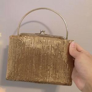 Vintage 1950s Gold DuraMesh Clutch Evening purse
